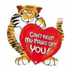 ΜΠΑΛΟΝΙ FOIL 75x110cm SUPER SHAPE ΤΙΓΡΗΣ «Can't Keep My Paws Off You» - ΚΩΔ.:85464-BB