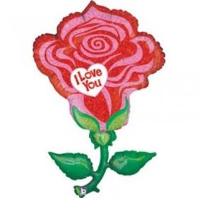 ΜΠΑΛΟΝΙ FOIL 119cm SUPER SHAPE ΤΡΙΑΝΤΑΦΥΛΛΟ «I Love You»- ΚΩΔ.:85540-BB