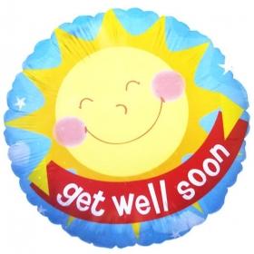 ΜΠΑΛΟΝΙ FOIL 45cm «Get Well Soon» ΗΛΙΟΣ – ΚΩΔ.:86043-BB