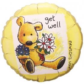 ΜΠΑΛΟΝΙ FOIL 45cm «Get Well» ΜΕ ΑΡΚΟΥΔΑΚΙ  – ΚΩΔ.:96409-BB