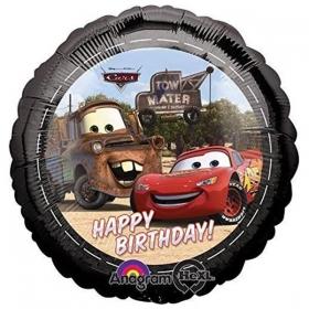 ΜΠΑΛΟΝΙ FOIL 45cm ΑΥΤΟΚΙΝΗΤΑ DISNEY «Happy Birthday»– ΚΩΔ:12964-BB