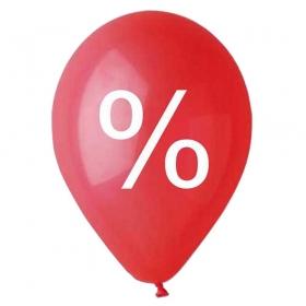 """ΤΥΠΩΜΕΝΑ ΜΠΑΛΟΝΙΑ LATEX «%» ΚΟΚΚΙΝΑ 12"""" (30cm) – ΚΩΔ.:135120008b-BB"""