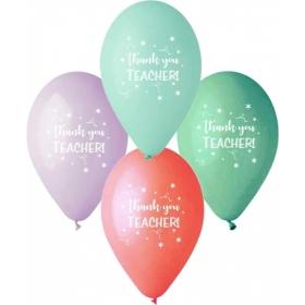 """ΤΥΠΩΜΕΝΑ ΜΠΑΛΟΝΙΑ LATEX «Thank You Teacher» 13"""" (33cm) – ΚΩΔ.:13613259-BB"""