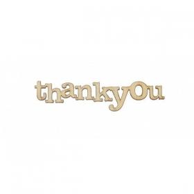 ΔΙΑΚΟΣΜΗΤΙΚΑ ΞΥΛΙΝΑ ΓΡΑΜΜΑΤΑΚΙΑ THANK YOU - ΚΩΔ:15075-ZAF