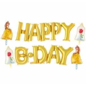 ΜΠΑΛΟΝΙ FOIL ΣΕΤ ΠΡΙΓΚΙΠΙΣΣΑ DISNEY «Happy Bday» – ΚΩΔ.:207175-BB