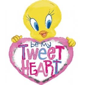 ΜΠΑΛΟΝΙ FOIL 110x85cm SUPER SHAPE ΡΟΖ TWEETY «Be My Tweetheart» - ΚΩΔ.:514352-BB