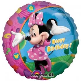 ΜΠΑΛΟΝΙ FOIL 45cm MINNIE MOUSE «Happy Birthday» – ΚΩΔ.:517797-BB