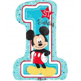 ΜΠΑΛΟΝΙ FOIL 48x71cm MICKEY MOUSE «1st Birthday» – ΚΩΔ.:534343-BB