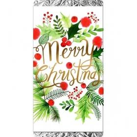 ΧΡΙΣΤΟΥΓΕΝΝΙΑΤΙΚΗ ΣΟΚΟΛΑΤΑ ΦΛΟΡΑΛ MERRY CHRISTMAS - ΚΩΔ:XS1501-17-BB