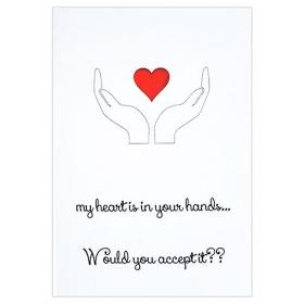 ΚΑΡΤΑ ΒΑΛΕΝΤΙΝΟΥ MY HEART IS IN YOUR HANDS - ΚΩΔ:VC1702-2-BB