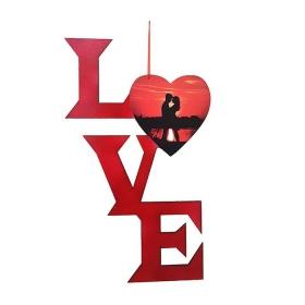 ΞΥΛΙΝΟ ΔΙΑΚΟΣΜΗΤΙΚΟ ΒΑΛΕΝΤΙΝΟΥ LOVE ΜΕ ΦΩΤΟΓΡΑΦΙΑ (ΣΧΕΔΙΟ 4) - ΚΩΔ:D16001-19-BB