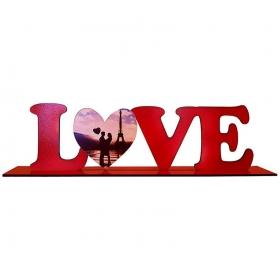 ΞΥΛΙΝΟ ΔΙΑΚΟΣΜΗΤΙΚΟ ΒΑΛΕΝΤΙΝΟΥ LOVE ΜΕ ΦΩΤΟΓΡΑΦΙΑ (ΣΧΕΔΙΟ 1) - ΚΩΔ:D16001-21-BB