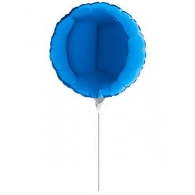 """ΜΠΑΛΟΝΙ FOIL 10""""(25cm) MINI SHAPE ΣΤΡΟΓΓΥΛΟ ΜΠΛΕ – ΚΩΔ.:09100B-BB"""