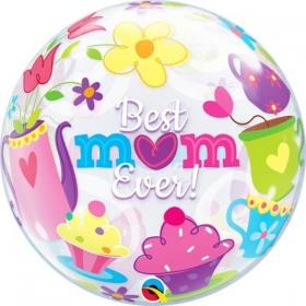 """ΜΠΑΛΟΝΙ FOIL 22""""(56cm) «Best Mom Ever» Bubble ΜΟΝΟ – ΚΩΔ.:11539-BB"""