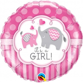 ΜΠΑΛΟΝΙ FOIL 45cm «Baby Girl» ΕΛΕΦΑΝΤΑΚΙΑ – ΚΩΔ.:45106-BB