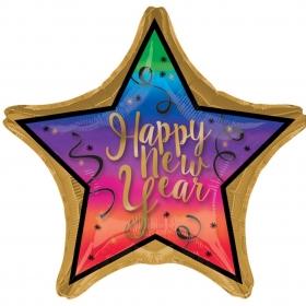 ΜΠΑΛΟΝΙ FOIL 71x71cm ΠΟΛΥΧΡΩΜΟ «Happy New Year» – ΚΩΔ.:534637-BB