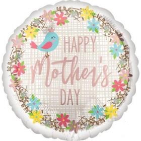ΜΠΑΛΟΝΙ FOIL 45cm «Happy Mother's Day» ΜΕ ΠΟΥΛΑΚΙΑ ΚΑΙ ΛΟΥΛΟΥΔΙΑ – ΚΩΔ.:537058-BB