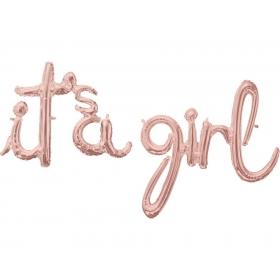 ΜΠΑΛΟΝΙ FOIL 68x50cm KAI 73x76 ΓΙΑ ΓΕΝΝΗΣΗ SUPERSHAPE ΠΑΣΤΕΛ ΜΠΛΕ «IT'S A GIRL» – ΚΩΔ.:539163-BB