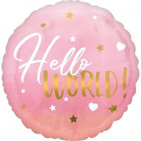 ΜΠΑΛΟΝΙ FOIL  45cm «Hello World» ΡΟΖ ΚΑΙ ΧΡΥΣΟ – ΚΩΔ.:539724-BB