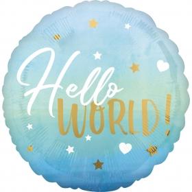 ΜΠΑΛΟΝΙ FOIL  45cm «Hello World» ΜΠΛΕ ΚΑΙ ΧΡΥΣΟ – ΚΩΔ.:539730-BB