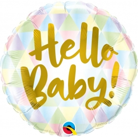 ΜΠΑΛΟΝΙ FOIL 45cm «Hello Baby!» ΠΑΣΤΕΛ – ΚΩΔ.:88007-BB