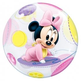 """ΜΠΑΛΟΝΙ FOIL 22""""(56cm) ΜΩΡΟ MINNIE MOUSE Bubble – ΚΩΔ.:16430-BB"""