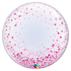 """ΜΠΑΛΟΝΙ FOIL 24""""(61cm) ROZ ΚΟΝΦΕΤΙ DECO Bubble – ΚΩΔ.:57790-BB"""