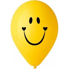 """ΤΥΠΩΜΕΝΑ ΜΠΑΛΟΝΙΑ LATEX SMILY FACE 16"""" (40cm) – ΚΩΔ.:13516102-BB"""