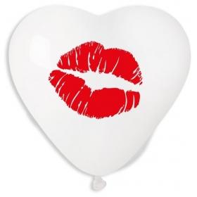ΔΙΑΦΑΝΑ ΜΠΑΛΟΝΙΑ ΤΥΠΩΜΕΝΑ ΚΑΡΔΙΕΣ LOVE 17'' (43cm) ΜΕ ΦΙΛΙ – ΚΩΔ.:13617453-BB