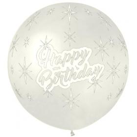 ΔΙΑΦΑΝΟ ΜΠΑΛΟΝΙ 31' (80cm) LATEX ΜΕ «Happy BirtHday» – ΚΩΔ.:13631105-BB
