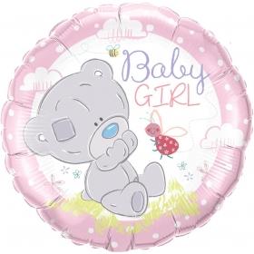 ΜΠΑΛΟΝΙ FOIL 45cm ΑΡΚΟΥΔΑΚΙ «Baby Girl» – ΚΩΔ.:28170-BB
