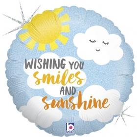 ΜΠΑΛΟΝΙ FOIL 45cm «Smiles & Sunshine» – ΚΩΔ.:36888-BB