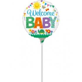 ΜΠΑΛΟΝΙ FOIL MINI SHAPE 9''(23cm) «Welcome Baby» ΖΩΑΚΙΑ – ΚΩΔ.:535593-BB