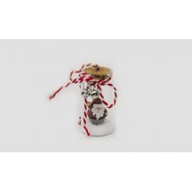 ΓΥΑΛΙΝΟΣ ΚΥΛΙΝΔΡΟΣ ΜΕ ΑΓΙΟ ΒΑΣΙΛΗ 7x3.5cm HAG-880954 - ΚΩΔ:531091