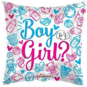 """ΜΠΑΛΟΝΙ FOIL 18""""(46cm) ΑΠΟΚΑΛΥΨΗ ΦΥΛΟΥ «BOY OR GIRL» – ΚΩΔ:15473-BB"""