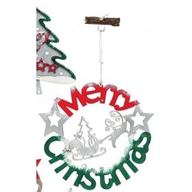 ΞΥΛΙΝΟ ΔΙΑΚΟΣΜΗΤΙΚΟ ΕΛΚΗΘΡΟ MERRY CHRISTMAS 15Χ22 ΕΚΑΤ. - ΚΩΔ:M3159-AD