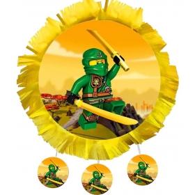 ΧΕΙΡΟΠΟΙΗΤΗ ΠΙΝΙΑΤΑ LEGO NINJAGO 40X40CM - ΚΩΔ:553153-97-BB