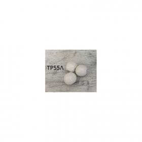ΞΥΛΙΝΕΣ ΧΑΝΤΡΕΣ ΓΥΑΛΙΣΤΕΡΕΣ ΛΕΥΚΕΣ - 1,5CM - 50 ΤΜΧ - ΚΩΔ:TR55L-RN