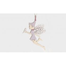 ΝΕΡΑΙΔΑ ΜΕΤΑΛΛΙΚΗ ΚΡΕΜΑΣΤΗ ΠΡΟΦΙΛ 13cm HCK-19062S.PK - ΚΩΔ:531135
