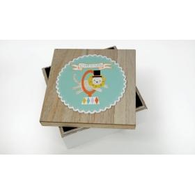 ΞΥΛΙΝΟ ΚΟΥΤΙ ΜΕ ΚΑΠΑΚΙ ΤΣΙΡΚΟ 15cm RS-190047A - ΚΩΔ:621267