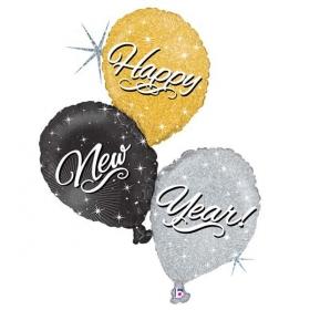 ΜΠΑΛΟΝΙ FOIL 102cm «New Year» – ΚΩΔ.:35198H-P-BB