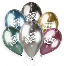 ΜΠΑΛΟΝΙ ΤΥΠΩΜΕΝΟ HAPPY BIRTHDAY SHINY 13΄΄ (33cm)  LATEX – ΚΩΔ:13613465-BB