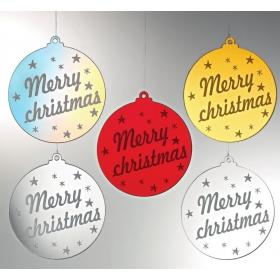 "PLEXIGLASS ΜΠΑΛΑ ""MERRY CHRISTMAS"" 8Χ8.5CM - ΚΩΔ:M4528-AD"