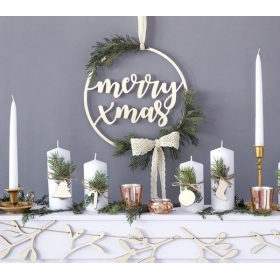 ΞΥΛΙΝΟ ΔΙΑΚΟΣΜΗΤΙΚΟ MERRY CHRISTMAS 28cm - ΚΩΔ:ZDD3-100-BB