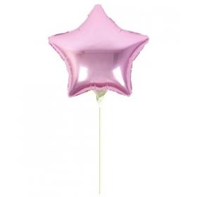 """ΜΠΑΛΟΝΙ FOIL 5""""(12cm) MINI SHAPE ΑΣΤΕΡΑΚΙ BABY PINK - ΚΩΔ:207128-PINK-BB"""
