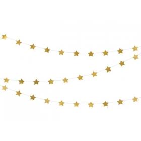 ΓΙΡΛΑΝΤΑ ΜΕ ΧΡΥΣΑ ΑΣΤΕΡΑΚΙΑ 3.6m - ΚΩΔ:GLS8-019M-BB