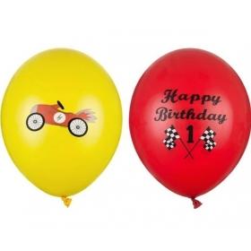 """ΣΕΤ ΜΠΑΛΟΝΙΑ 12""""(30cm) CARS HAPPY BIRTHDAY - ΚΩΔ:SB14P-305-000-1-BB"""
