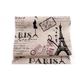 ΡΟΛΟ ΚΑΡΑΒΟΠΑΝΟ ΑΣΠΡΟΜΑΥΡΟ PARIS 24cm x 4,57 ΜΕΤΡΑ - ΚΩΔ: 527182