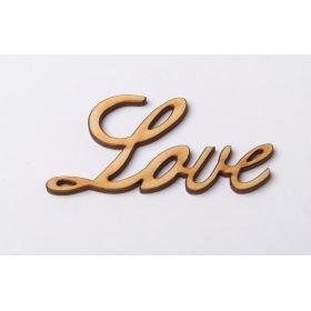 ΞΥΛΙΝΟ ΔΙΑΚΟΣΜΗΤΙΚΟ LOVE 6 ΕΚΑΤ. - ΚΩΔ:4588-MC