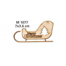 """ΓΟΥΡΙ ΞΥΛΙΝΟ ΕΛΚΗΘΡΟ """"MERRY CHRISTMAS"""" ΜΙΚΡΟ - ΚΩΔ:M1077-AD"""